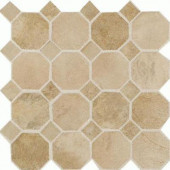 Aspen Lodge Morning Breeze 12 in.x12 in.x6mm Porcelain Octagon Mosaic Floor and WallTile(7.74 sq. ft./case)-DISCONTINUED