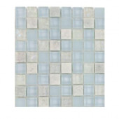 Mist Trail Blend Marble and Glass Tile Sample