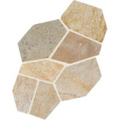 Natural Stone Collection Golden Sun 12 in. x 24 in. Slate Flagstone Floor and Wall Tile (13.5 sq. ft. / case)