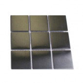 Metal Silver Stainless Steel 2 in. x 2 in. Square Tiles Tile Sample