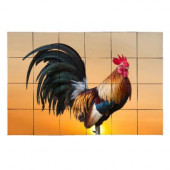 Sunset Rooster 36 in. x 24 in. Tumbled Marble Tiles (6 sq. ft. /case)