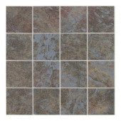 Continental Slate Tuscan Blue 12 in. x 24 in. x 6mm Porcelain Mosaic Floor and Wall Tile-DISCONTINUED