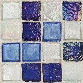 Egyptian Glass Sapphire Collag 12 in. x 12 in. x 6 mm Glass Face-Mounted Mosaic Wall Tile