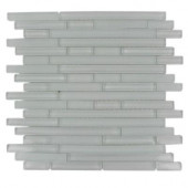 Temple Melting Ice 12 in. x 12 in. x 8 mm Glass Floor and Wall Tile-DISCONTINUED