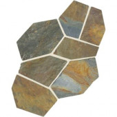 Natural Stone Collection Mongolian Spring 12 in. x 24 in. Slate Flagstone Floor and Wall Tile (13.5 sq. ft. / case)