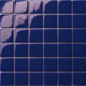 12.5 in. x 12.5 in. Capri Blu Glossy Glass Tile-DISCONTINUED