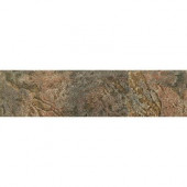 Mt. Everest Verde 3 in. x 12 in. Glazed Porcelain Floor and Wall Bullnose Tile-DISCONTINUED