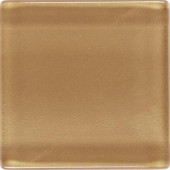 Isis Amber Gold 12 in. x 12 in. x 3 mm Glass Mesh-Mounted Mosaic Wall Tile