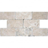 Bologna Noche 3 in. x 6 in. Travertine Floor & Wall Tile-DISCONTINUED