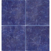 Island Cobalt 6 in. x 6 in. Glazed Porcelain Pool Tile
