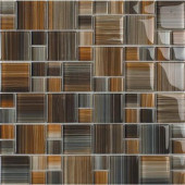 Contempo Jacobs-1673 Mosaic Glass Mesh Mounted Tile - 4 in. x 4 in. Tile Sample-DISCONTINUED