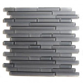 Temple Konkrete 12 in. x 12 in. x 8 mm Glass Mosaic Floor and Wall Tile