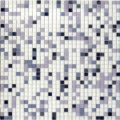 12.8 in. x 12.8 in. Venice Platinum Mix Frosted Glass Tile-DISCONTINUED