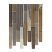 Tectonic Harmony Multicolor Slate and Earth Blend Glass Tile Sample