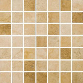 Piozzi 2 in. x 2 in. / 13 in. x 13 in. Glazed Porcelain Mosaic Blend Floor and Wall Tile-DISCONTINUED