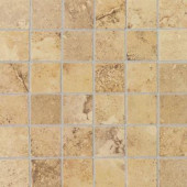 Pietre Vecchie Golden Sienna 12 in. x 12 in. x 8mm Porcelain Sheet Mounted Mosaic Floor/Wall Tile (14.33 sq. ft. / case)