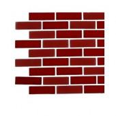 Contempo Lipstick Red Brick Glass Tile Sample