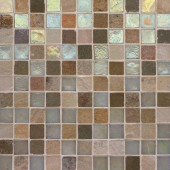 Edgewater Stone Steps 1 in. x 1 in. 11 3/4 in. x 11 3/4 in. Glass and Slate Floor & Wall Mosaic Tile-DISCONTINUED