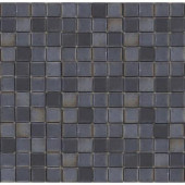 Metalz Tungsten-1010 Mosiac Recycled Glass Mesh Mounted Floor and Wall Tile - 3 in. x 3 in. Tile Sample