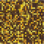 12.8 in. x 12.8 in. Venice Amber Mix Glossy Glass Tile-DISCONTINUED