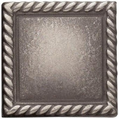 2in. x 2 in. Cast Metal Rope Dot Brushed Nickel Tile (10 pieces / case) - Discontinued