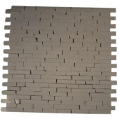 Winter White Cracked Joint Classic Brick Layout 12 in. x 12 in. Marble Mosaic Floor and Wall Tile-DISCONTINUED