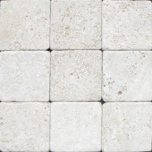 Chiaro 4 in. x 4 in. Tumbled Travertine Floor and Wall Tile (1 sq. ft. / case)