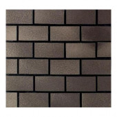 Urban Metals Bronze 12 in. x 12 in. x 8 mm Composite Brick-Joint Mesh-Mounted Mosaic Wall Tile