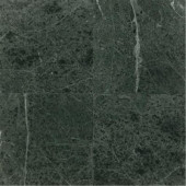 Natural Stone Collection Hulien Green 12 in. x 12 in. Polished Marble Floor/Wall Tile (10 sq. ft. / case)-DISCONTINUED