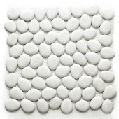 Freeform Glass Negin 11 in. x 11 in. x 9.525 mm White Glass Mesh-Mounted Mosaic Wall Tile (8.4 sq.ft./case)