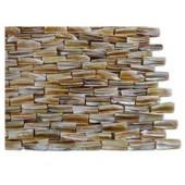Baroque Pearl 3D Brick Pattern Mosaic Tile Sample