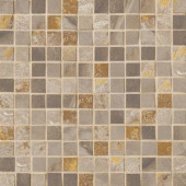 Jade 13 in. x 13 in. x 8-1/2 mm Taupe Porcelain Mesh-Mounted Mosaic Floor and Wall Tile
