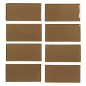 Lava Cake Cold Spray 3 in. x 6 in. Glass Wall Tile (1 pk / 8 pcs-1 sq. ft.)