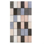 Avila 12 in. x 24 in. Multicolor Porcelain Mosaic Tile-DISCONTINUED