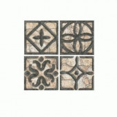 Fashion Accents Wrought Iron/Beige 2 in. x 2 in. Ceramic Accent Wall Tile