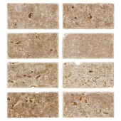 Travertine Noce 6 in. x 3 in. Travertine Wall and Floor Tile (1pack/8pieces-1sq. ft.)