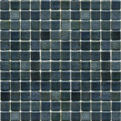 Metalz Textured Tungsten-1009 Mosiac Recycled Glass Mesh Mounted Floor and Wall Tile - 3 in. x 3 in. Tile Sample