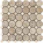 Campione Sampras 13 in. x 13 in. x 8-1/2 mm Porcelain Octagon Mesh-Mounted Mosaic Tile