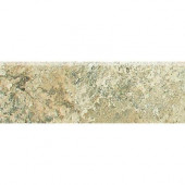 Folkstone Slate Sandy Beach 3 in. x 12 in. Porcelain Bullnose Floor and Wall Tile-DISCONTINUED