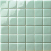 12.5 in. x 12.5 in. Capri Giada Glossy Glass Tile-DISCONTINUED
