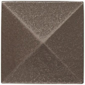 2 in. x 2 in. Cast Metal Pyramid Dot Brushed Nickel Tile (10 pieces / case) - Discontinued