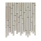 Windsor 1/4 in. x Random Crema Marfil Pattern Marble Mosaic Tiles - 6 in. x 6 in. Tile Sample