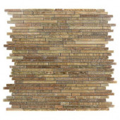 Windsor Random Wood Onyx 12 in. x 12 in.x 8 mm Marble Floor and Wall Tile