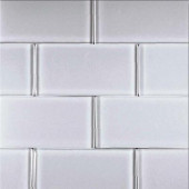 Alpinez Telluride-1473 Glass Subway Tile - 3 in. X 6 in. Tile Sample-DISCONTINUED