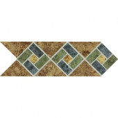 Heathland Sunset Blend 4 in. x 12 in. Glazed Ceramic Decorative Accent Floor and Wall Tile