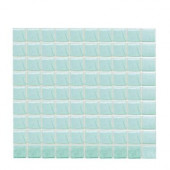 Sonterra Glass Mint Iridescent 12 in. x 12 in. x 6mm Glass Mosaic Wall Tile (10 sq. ft. / case)-DISCONTINUED