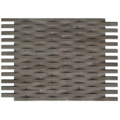 3D Reflex Athens Grey 11.5 in. x 9 in. x 8 mm Stone Wall Tile