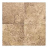 Salerno Marrone Chiaro 18 in. x 18 in. Glazed Ceramic Floor and Wall Tile (18 sq. ft. / case)