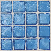 Egyptian Glass Mediterranean 12 in. x 12 in. x 6 mm Glass Face-Mounted Mosaic Wall Tile