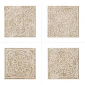 Montagna Lugano 6 in. x 6 in. Porcelain Embossed Deco (Receive 1 of 4 Random Decos - Sold as Singles)